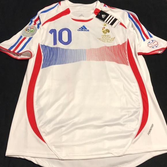 Adidas Shirts Nwt Zidane France 2006 World Cup Jersey Poshmark